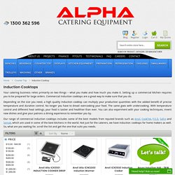 Buy Induction Cooktops, Kitchen Cooking Appliances Online - Alpha Catering Equipment