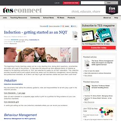 Induction - getting started as an NQT
