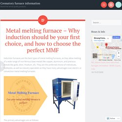 How to choose best metal melting furnaces?