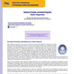 Exemples d'inductions hypnotiques - IFHE - Auto-Hypnose + MP3