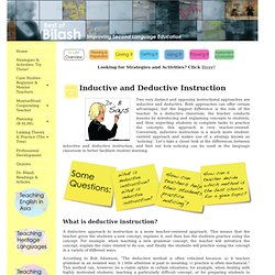 Inductive & Deductive Learning