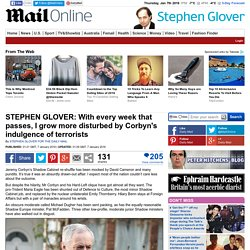 Stephen Glover is disturbed by Jeremy Corbyn's indulgence of terrorists