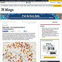 Open-data : «de l'expérimentation à l'industralisation»