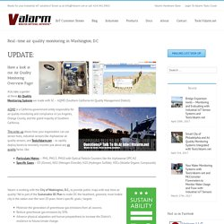 Valarm Industrial IoT Applications – Real-time air quality monitoring in Washington, D.C.