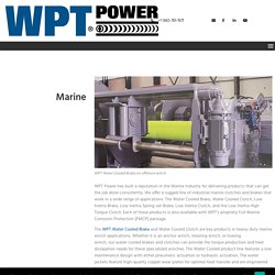 Industrial Clutches & Brakes for Marine Applications - WPT Power Corp.