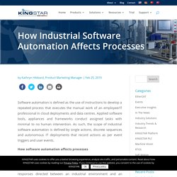 How Industrial Software Automation Affects Processes
