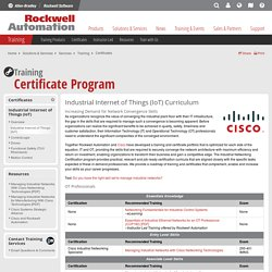 Training Certificate Program from Rockwell Automation