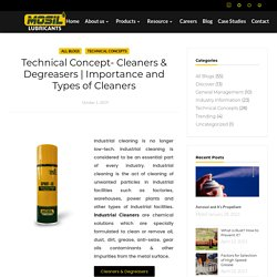 Types Of Industrial Cleaners & Degreasers
