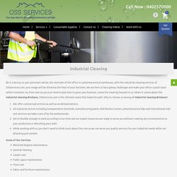 Industrial Cleaning Services in Brisbane – OSS Services