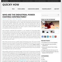 Who Are the Industrial Power Coating Contractors? - Quicky How