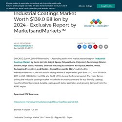Industrial Coatings Market Worth $139.0 Billion by 2024