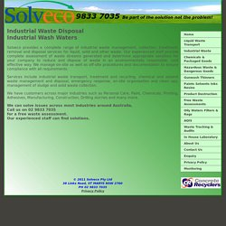 SOLVECO – Providing Environmentally Responsible Solutions