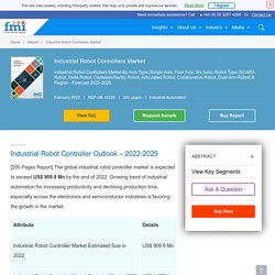 Industrial Robot Controllers Market size, analysis, and forecast report by 2029: FMI Study