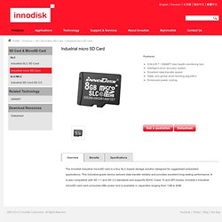 Industrial micro SD Card - Innodisk Corporation