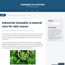 Industrial Cannabis: A natural cure for skin cancer