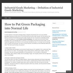 Industrial Goods Marketing - Definition of Industrial Goods Marketing