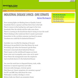 DIRE STRAITS - INDUSTRIAL DISEASE LYRICS