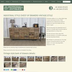 INDUSTRIAL STYLE CHEST OF DRAWERS VINTAGE STYLE