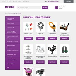 Industrial Lifting Equipment for Sale at Bishop Lifting Services