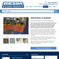 Industrial Flooring - Resin Building Products, UK