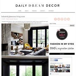 Industrial glamorous living room