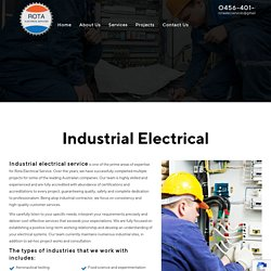 Industrial Electrical Developing Service Systems Queensland, Townsville, Home Hill, Guthalungra, Bowen, Proserpine
