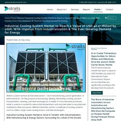 Industrial Cooling System Market to Reach a Value of USD 42.17 Million by 2026, With Impetus From Industrialization & The Ever-Growing Demand for Energy