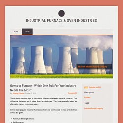 Discuss on industrial furnace and oven company
