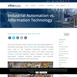 Industrial Automation vs. Information Technology