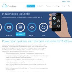 Industrial Internet of Things - CloudPlugs