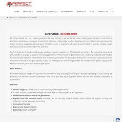Industrial generators Manufacturers in India