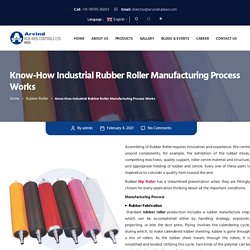 Know-How Industrial Rubber Roller Manufacturing Process Works - Arvind Rub-Web Controls LTD