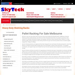 Pallet racking for sale in Melbourne