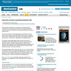 Industrial revolution sealed Neanderthals' fate - life - 28 July 2011