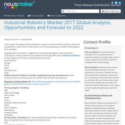 Industrial Robotics Market 2017 Global Analysis, Opportunities and Forecast to 2022