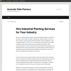 Hire Industrial Painting Services for Your Industry