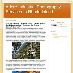 Adore Industrial Photography Services In Rhode Island