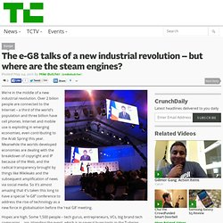 The e-G8 talks of a new industrial revolution – but where are the steam engines?