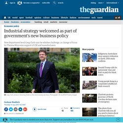 Industrial strategy welcomed as part of government's new business policy