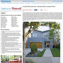 Industrial Style House Plan - Suburban Exterior, Industrial Interior