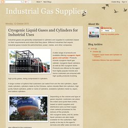 Industrial Gas Suppliers: Cryogenic Liquid Gases and Cylinders for Industrial Uses