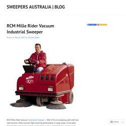 RCM Mille Rider Vacuum Industrial Sweeper
