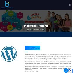 Industrial Training From Backup Infotech