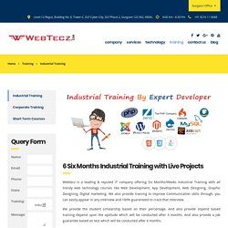 Industrial Training With Live Projects in Amritsar, Punjab - WebTecz.com