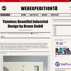 Timeless Beautiful Industrial Design by Braun GmbH | webexpedition18