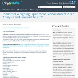 Industrial Weighing Equipment Global Market 2017 Analysis and Forecast to 2021