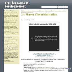 2.1. Phases d'industrialisation - HEC : Économie et développement