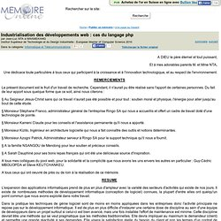 Industrialisation des développements web : cas du langage php - Jean-Luc NTA à NWAMEKANG