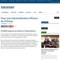 Pour une industrialisation efficace de l'Afrique