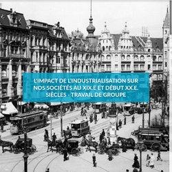L'impact de l'industrialisation sur nos sociétés au XIX.e et début XX.e. siècles - Travail de groupe